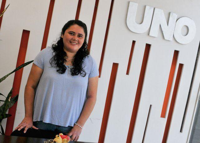 Mensaje. Marianela Díaz se acercó a Diario UNO para contagiar su fe y convicciones a otros jóvenes.