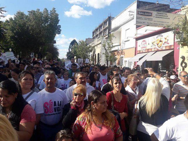 En varias ciudades entrerrianas marcharon a favor de la vida del niño por nacer