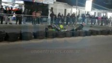 video: violento accidente en una competencia de karting callejero en chajari