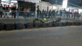 VIDEO: Violento accidente en una competencia de karting callejero en Chajarí