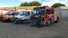 Nuevas unidades. Refuerzo para el Cuerpo de Bomberos Voluntarios de la capital entrerriana. Foto: Javier Aragón.