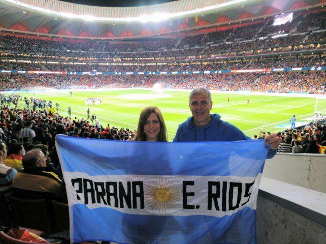 Un paranaense en el Wanda Metropolitano mirando a la selección
