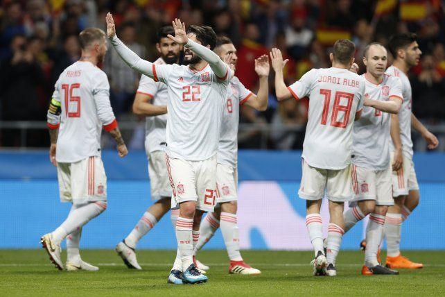 España humilló a Argentina en la previa al Mundial de Rusia