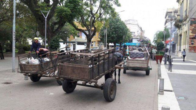 Concordia: Carreros reclaman por el impedimento de circular por el casco céntrico