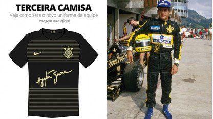 Ayrton Senna en la camiseta de Corinthians
