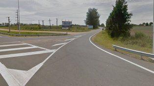 El ingreso a Puerto Yeruá por la ruta 14. Foto Google.