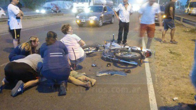 Paraná: Una mujer de 72 años falleció luego de ser embestida por una moto