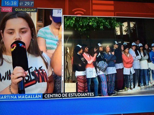 Las repercusiones. La mayoría de los medios de Buenos Aires enviaron móviles a Gualeguay.
