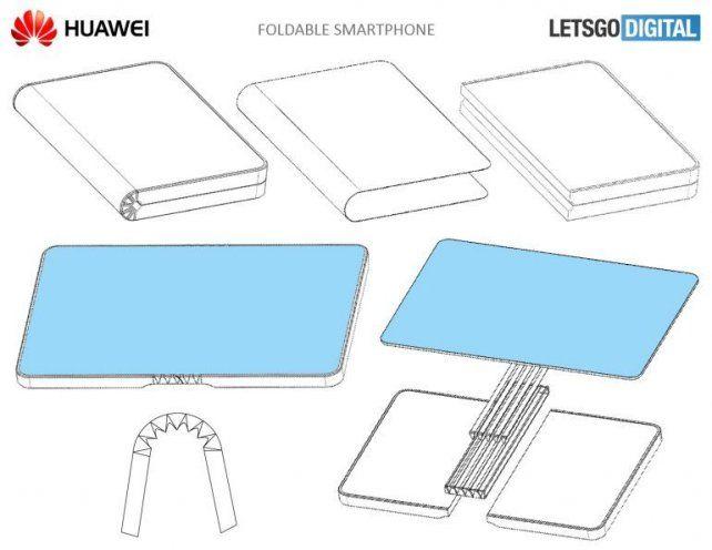 Patentan un celular que se dobla como un libro