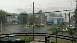 Muy esperada. La lluvia llegó a Crespo