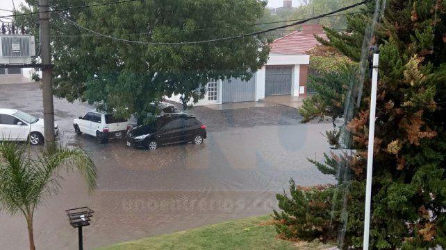 Intensa. Hacía varios meses que en Crespo no llovía. Foto: Yesica Roth