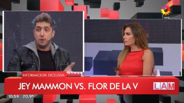 VIDEO | Tensión al aire entre Flor de la V y Jey Mammon