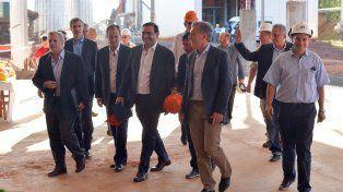 Bordet junto a Macri en Misiones. También estuvieron el ministro de Agroindustria