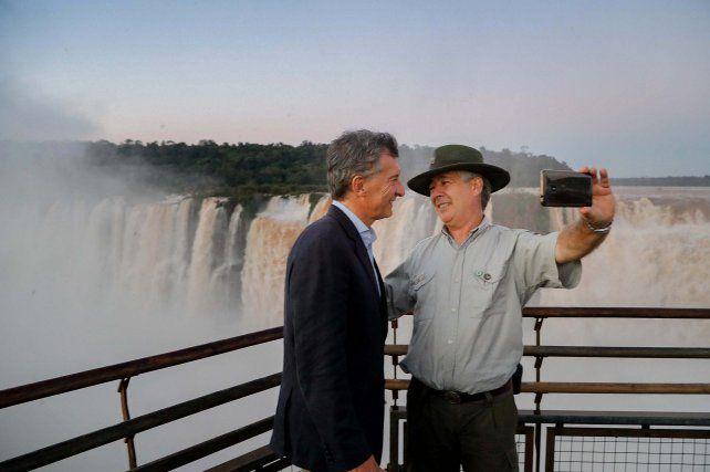 El presidente Mauricio Macri visitó hoy la Garganta del Diablo