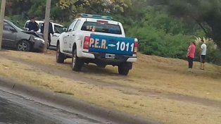 Varios móviles policiales persiguieron al hombre que habría violado a su ex pareja. Investigan antecedentes.