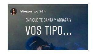 El encuentro entre Lali y Enrique Iglesias incluyó una manito hot