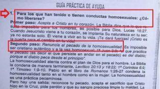 Homofobia en Paraná: El Instituto Cristiano Evangélico Bautista reparte una guía para tratar homosexuales