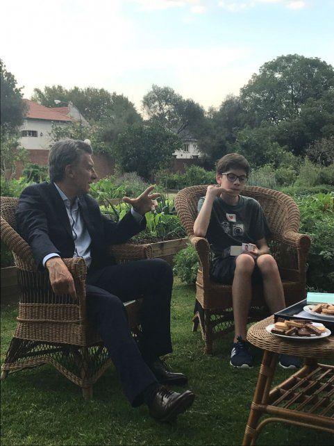 Macri y Santino hablaron de todo