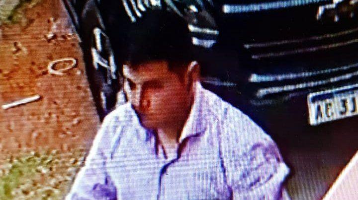 Otra imagen del sindicado responsable del robo a Bustamante.