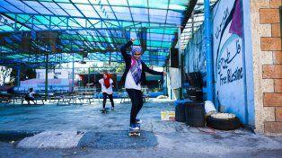 Los skateparks se multiplican en Palestina.