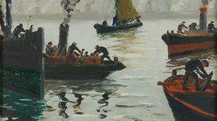 Quinquela martín. La temática de su obra giró, sobre todo, en torno a los barcos y las labores del puerto,