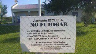 Escuelas fumigadas: AGMER vuelve a exigir una intervención activa de la Justicia
