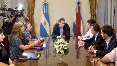 En Casa de Gobierno. Bordet, Iguacel y Varisco hablaron de distintas obras de infraestructura en la región.