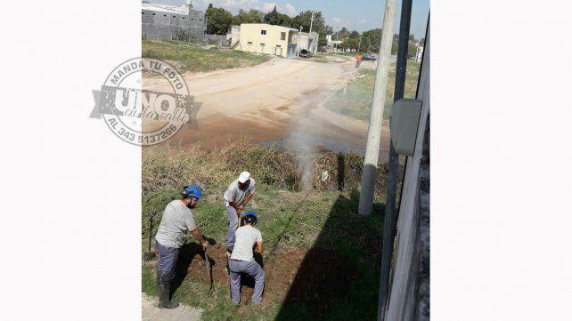 La rotura de un caño de gas provocó alarma en los vecinos de calle Garrigó