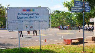En Lomas del Sur buscan mejorar el polideportivo que distingue al barrio