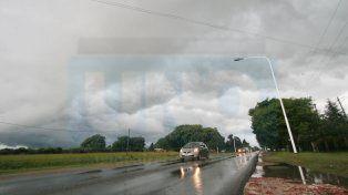 Alerta a corto plazo por tormentas fuertes y lluvias intensas para una franja de la provincia
