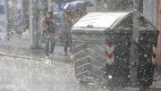 La fuerte tormenta se desató en horas de la madrugada en Paraná, y se extendió hasta media mañana.