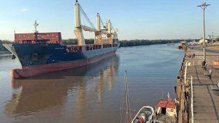 Puerto de Concepción. La carga tendrá como destino Turquía.