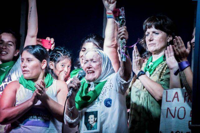 Nora Cortiñas es una gran luchadora de todas las causas justas. Foto: Revista Sudestada.