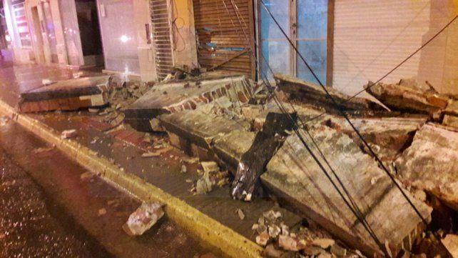 En plena tormenta cayó la mampostería de una casa en Paraná