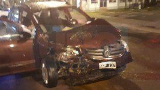Este lunes se produjo un choque en avenida Almafuerte y Rondeau