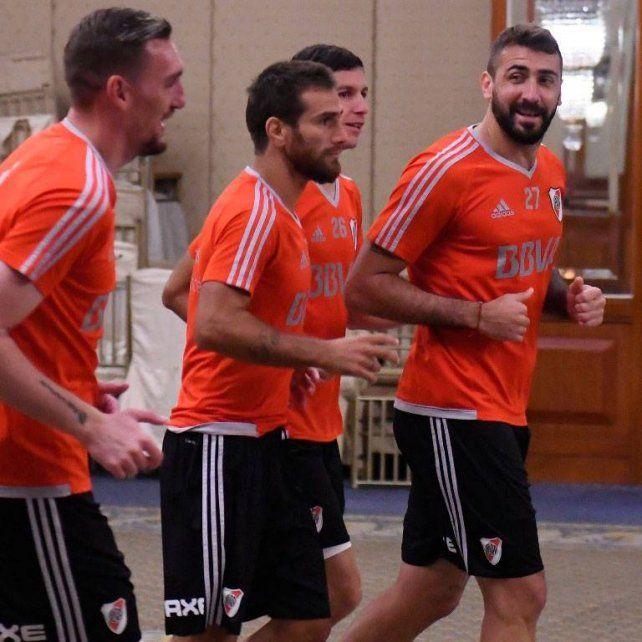 Vuelta al trabajo. El equipo entrenó ayer pensando en el duelo por la Copa. Vienen de 6 triunfos al hilo.