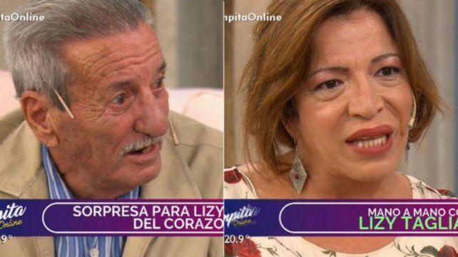 La emoción de Lizy Tagliani al ser sorprendida por su papá al aire
