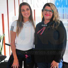Agustina Cabilia y Adriana Pérez, organizadoras.