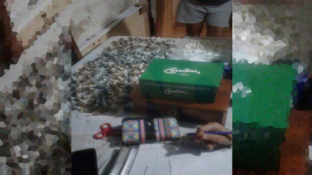 Lista para la venta. La cocaína y la marihuana estaban acondicionadas para su comercialización.