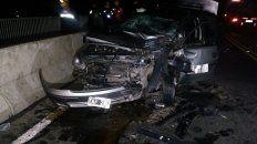 El Chevrolet Corsa, donde iban a bordo cinco mujeres, se llevó la peor parte.