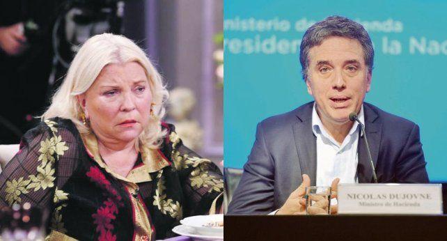 Elisa Carrió y Nicolás Dujovne: Estamos muy bien