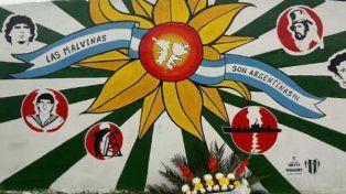 El club Oro Verde recordó a un marinero caído en Malvinas