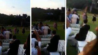 Novia fue a su boda en helicóptero, se estrelló, sobrevivió y se casó igual