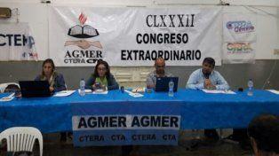 Agmer emplazó al Gobierno a presentar una nueva oferta o irá a un paro de 48 horas