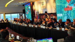 Reunión clave. Durante el encuentro celebrado en Paraná