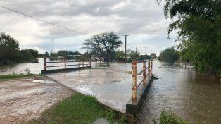 Mucha agua. En Feliciano ya llovió entre cinco y seis veces más que el promedio para este mes.