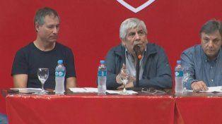 Hugo Moyano: No me voy a ir de Independiente ni aunque me corra el Gobierno