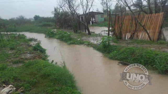 La zona norte de Concordia sufre las consecuencias de la lluvia