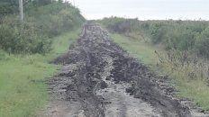 Caminos intransitables. En lugares como Feliciano después de tanta lluvia los suelos están saturados.