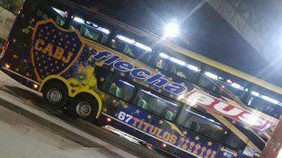 El micro de Boca bicampeón estuvo en Paraná